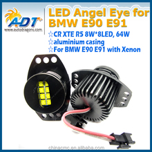 White Lights Angel Eyes LED Marker Halo Ring Lamps For BMW E90 E91 3 Series