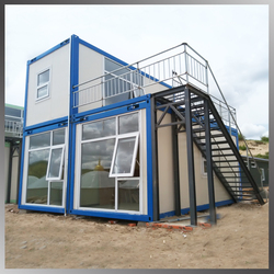 Removeable Prefab Container House 2 Storey with a Balcony