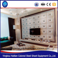Faux Leather Wall Panels Decoration Architectural Interior Noble gorgeous Durable Decoration 3D composite wall Board