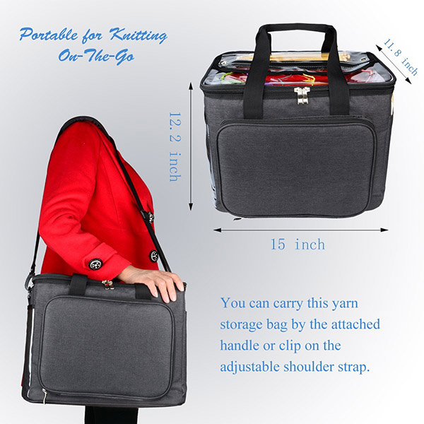 Professional factory customize high quality knitting bag organizer