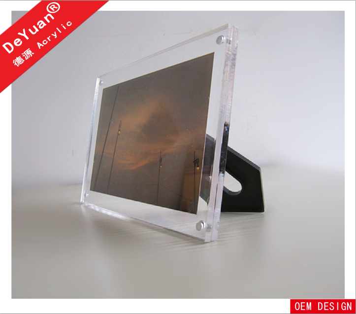 Square mini acrylic photo booth frame with stand