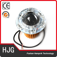Hi/Low Beam 12v LED projector headlight for motorcycle angel eye and devil eye