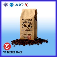 Superior quality side gusset kraft paper bag for coffee bean packaging