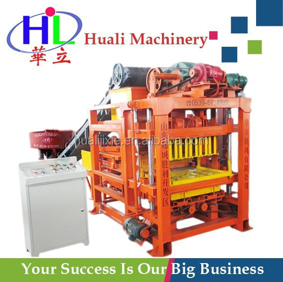 Small manual paving machine QT4-23 used brick making machine for sale