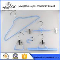 Home Storage Metal Rubber Coated Wire Hanger , Non-Slip Pvc Coated Wire Hanger