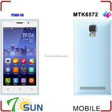 5.0 Inch Dual Core MTK6572 Android 4.4 3G GPS WIFI Smartphone android very small mobile phone