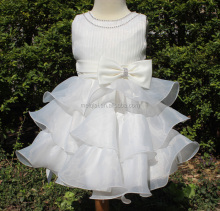 Western girls birthday dress flowers girl dress kids Wedding party wear dress L-816
