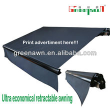 cheap folding canvas awnings/electric awning/retractable awning price