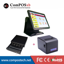 POS Manufacturer 15 inch TFT LCD Cashier Machine Retail Electronic Cash Register With Large Cash Drawer/Thermal Printer