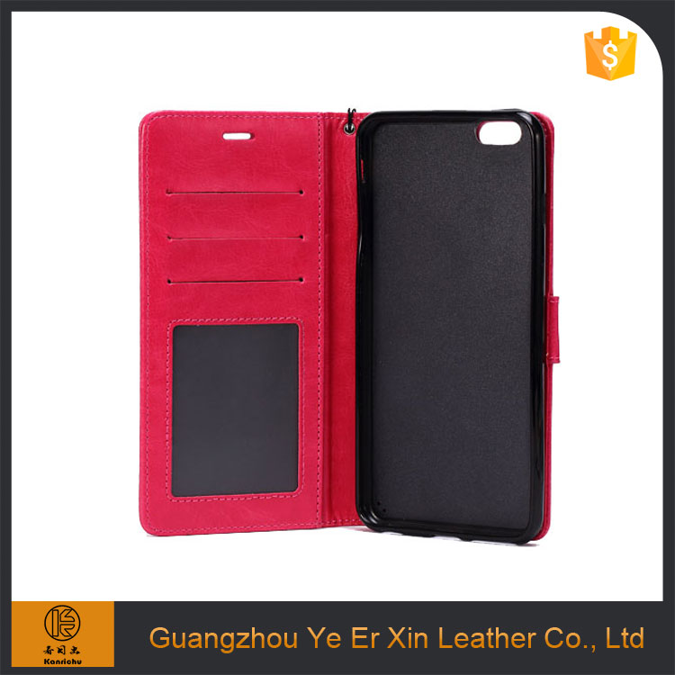 2016 hot selling cheap flip leather mobile phone case cover for iPhone 6/6s/7 plus
