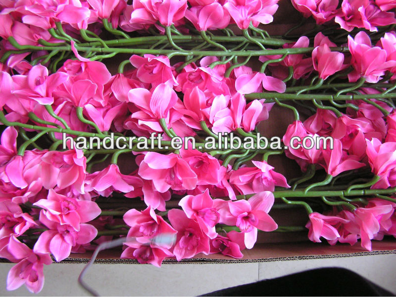 artificial silk rose orchid flower for tabel decoration