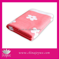 Unique Bright Baby Blanket Jacquard Knitting Fabric Blankets Made in China