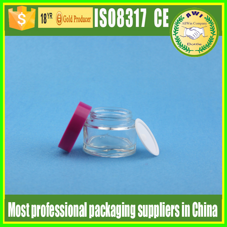 New style fast delivery clear custom round glass jar