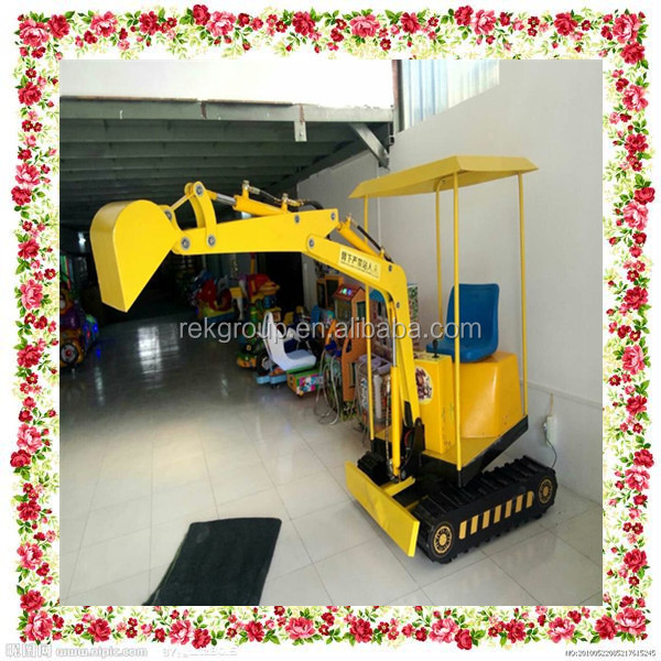 Automatic 8h Max working time children toy electric excavator for ball pool for sale with CE approved