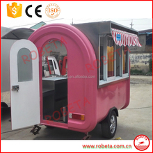 Multifunctional Fully Equippted Customized mobile ice cream trailer food cart trailer for selling