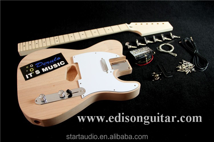 DIY Unfinished Electric Guitar Kits Solid A Level Mahagany Body MX-001