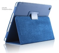 Auto Sleep /Wake Up Flip Litchi PU Leather seat Cover For New ipad 3 ipad 4 Smart Stand Holder Folio Case