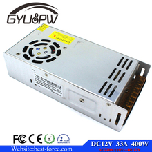 Best quality 400W 33A 12v Switching Power Supply Driver for CCTV camera LED Strip AC 10220V Input to DC12V SMPS