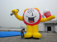 Giant Outdoor Customised Inflatable Cartoon, Inflatable Mascot Clock