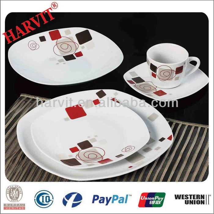 china products hot wholesale 20pcs porcelain dinner set hunan crockery items dinner sets modern. Black Bedroom Furniture Sets. Home Design Ideas