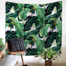Palm Trees Exotic Plants Jungle Wild Nature Zen Theme Art Decorations Tropical Rain Forest Green Custom Tapestry 028