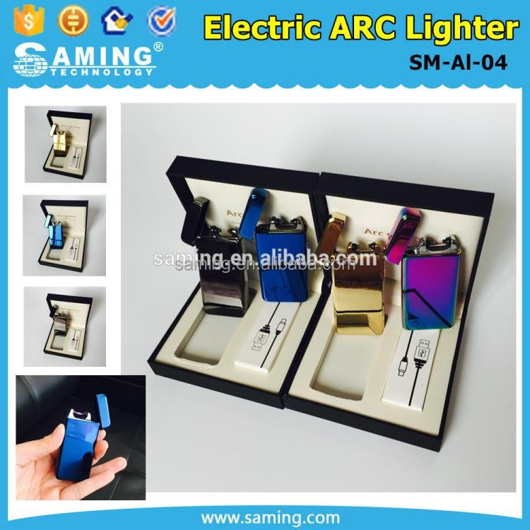2017 Customize DIY Promotional Rechargeable Colorful USB Electronic Electric Cigarette ARC Lighter With Multiple Colors