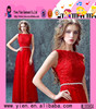 New Fashion Sleeveless Lace Red Bridesmaid Dresses Factory Price Superior Quality Fashional Elegant Bridesmaid Dresses