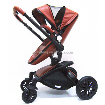 2017 New Baby Product High Quality Baby Pram Factroy Price And Fashion Leather European Styles Baby Stroller 3 in 1