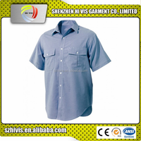 high quality oxford weave blue cotton/polyester mens work clothing shirts