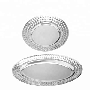 New style stainless steel round plate/dish plate serving tray