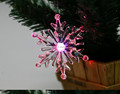 Acrylic crystal snowflake pendant with snowflake ornament