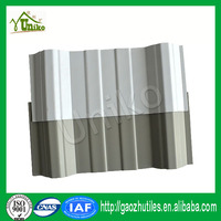 Strong impact proof corrugated plastic roof sheet pvc roofing solar panle