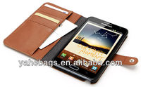 genuine leather phone case for samsung galaxy note ii 2 i9220