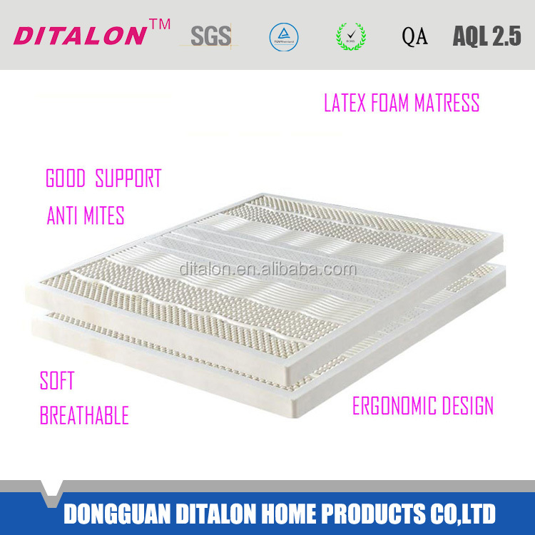 Classical design latest style cotton with viscose foam Latex Thailand mattress