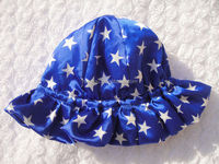 Multi colors sun hat,wholesale satin wrap caps,4th of july