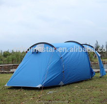 STAR HOME BRAND 3-4persons one bedroom & one living room double layer tunnel family and party camping tent