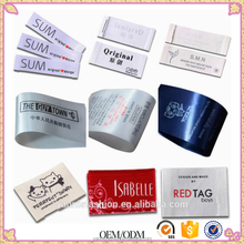 customized silk care label cut separately/washing /garment woven tag printing/clothing washable printed tags