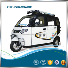 2018 Popular 800W enclosed totally electric tricycle 3 wheel car for sale