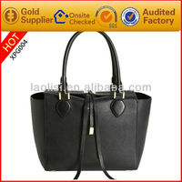 Hot sale popular style imitation leather lady hand bag for women's bag