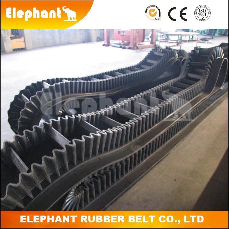 Multi-layers EP Fabric Carcass Endless Sidewall Conveyor Belt