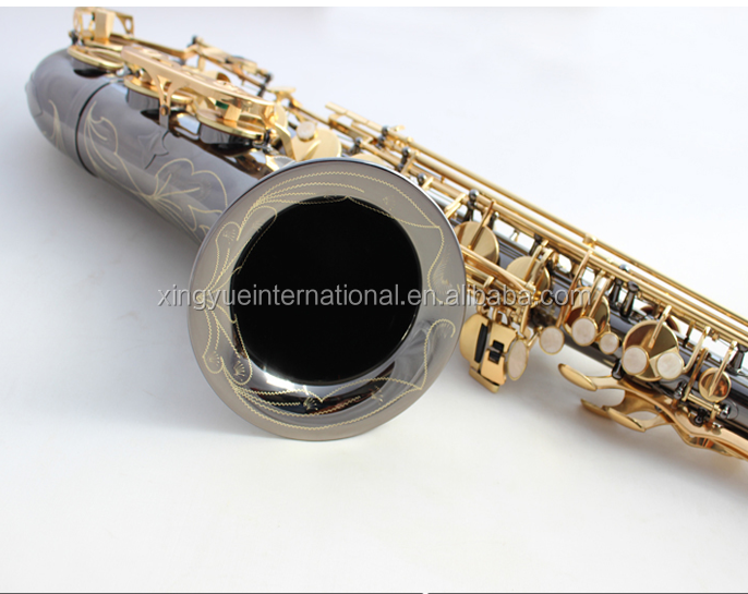 black nickel body gold lacquer Bb saxophone tenor