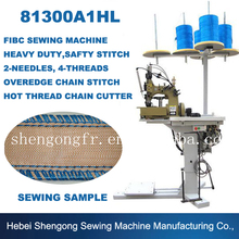 SHENPENG 81300A1HL Double Needle Four Thread Mechanical Container Bag Sewing Machine