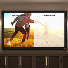 4K Black White Lenticular Technology Fixed Frame Projection Projector Screen Anti light CLR Screen