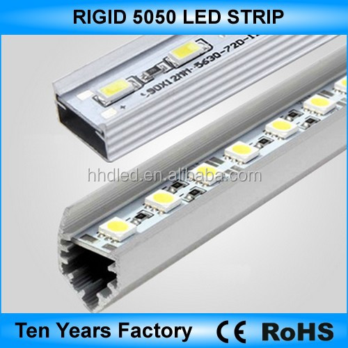 High lumen 12v 5050 aluminum led rigid strip light
