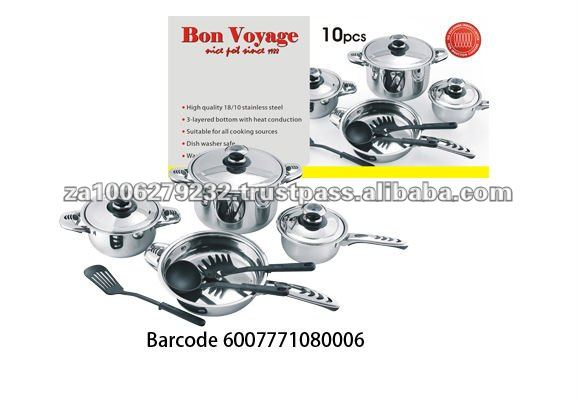 10PC Hot Sale Stainless Steel Cookware Set