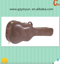 High Quality Brown arch Acoustic Guitar Display Case made in China