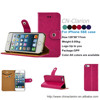 Best Quality Newest PU Leather Wallet Shockproof Mobile Phone Case For iPhone 5SE, Case For iPhone SE, Hot Pink