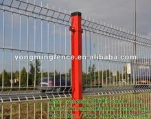 hot sale green color PVC curved outdoor venues welded mesh fence panel/direct manufacturer