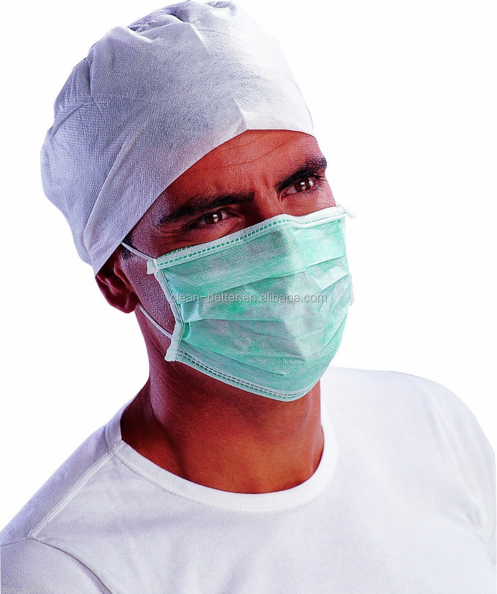 Custom printed colorful anti dust and bacterial disposable non-woven 3 layer surgical mask