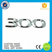 Eco-friendly custom plastic emblem chromed car ABS sticker